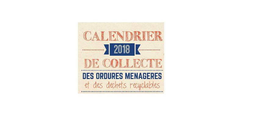 Calendrier Sictom.Calendrier Collecte 2018 Sictom Mairie De Saint Clair De