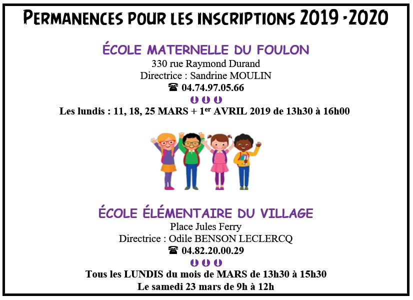 permances, inscriptions scolaires, 2019-2020, écoles, élémentaire, primaire, enfant