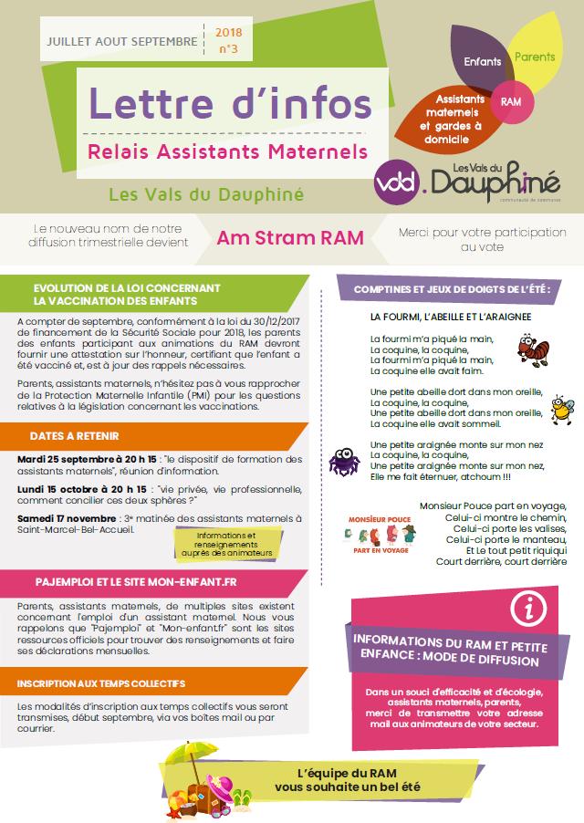 lettre d'info, relais assistants maternels, été 2018