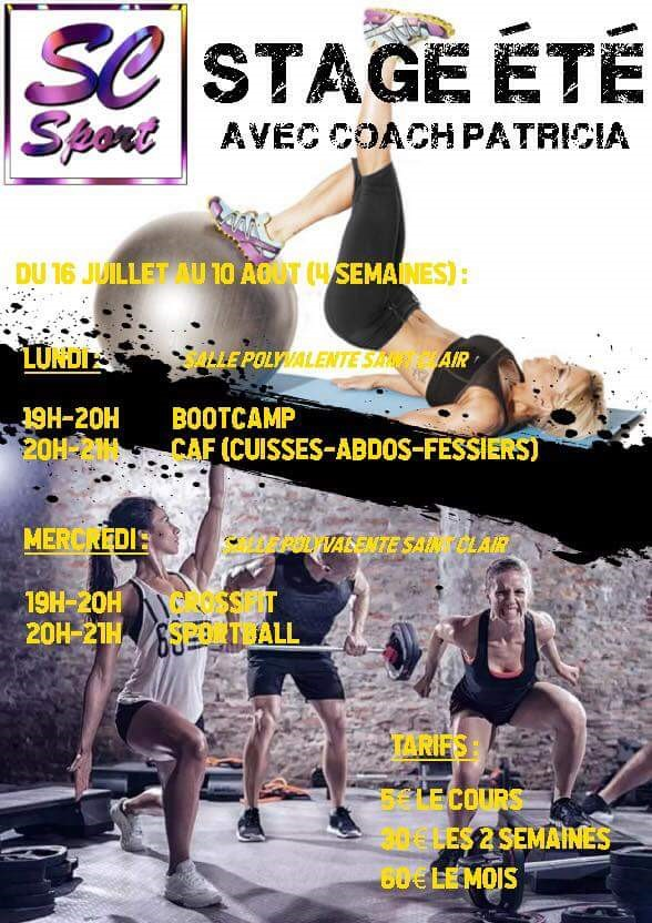 stage, été 2018, Saint Clair Sport, bootcamp, CAF, sportball, crossfit