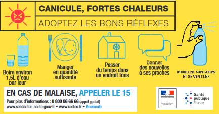 FORTES CHALEURS : Les bons réflexes !