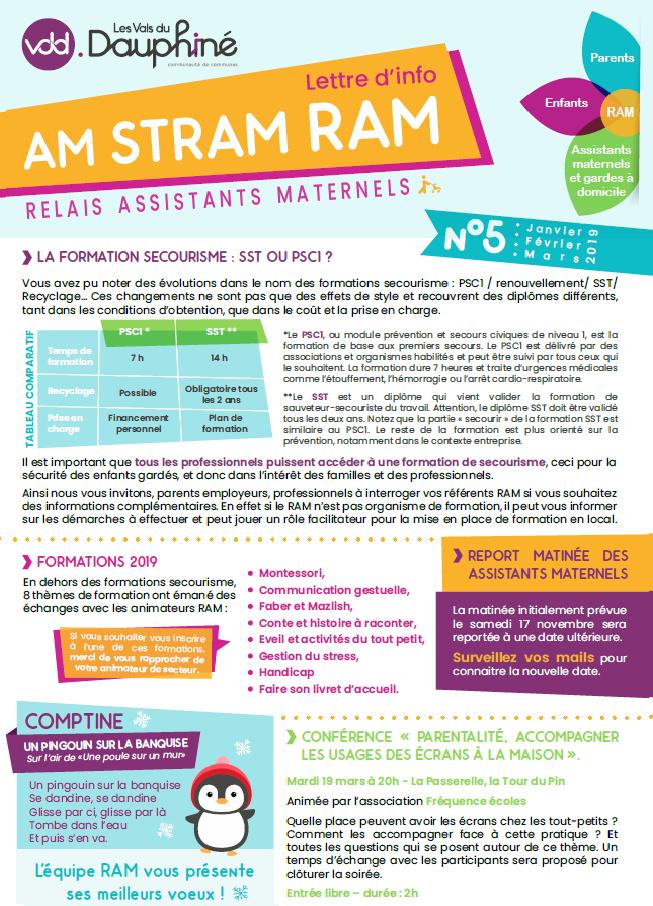 RAM, relais, assistants maternels, lettre d'info, AM STRAM RAM, VDD