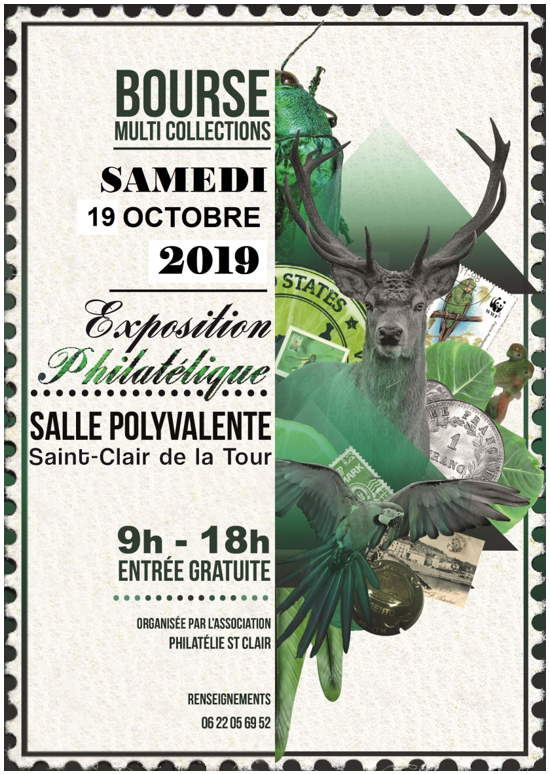 bourse, multi collections, collections, exposition, philatélique, philatélie st Clair
