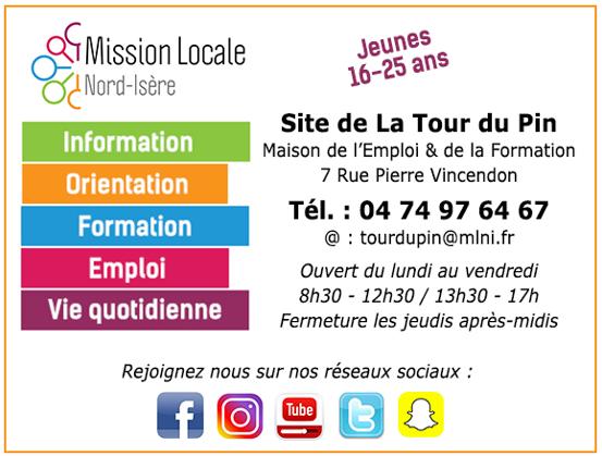 mission locale, jeunes, information, orientation, formation, emploi, vie quotidienne, site de LA TOUR DU PIN,