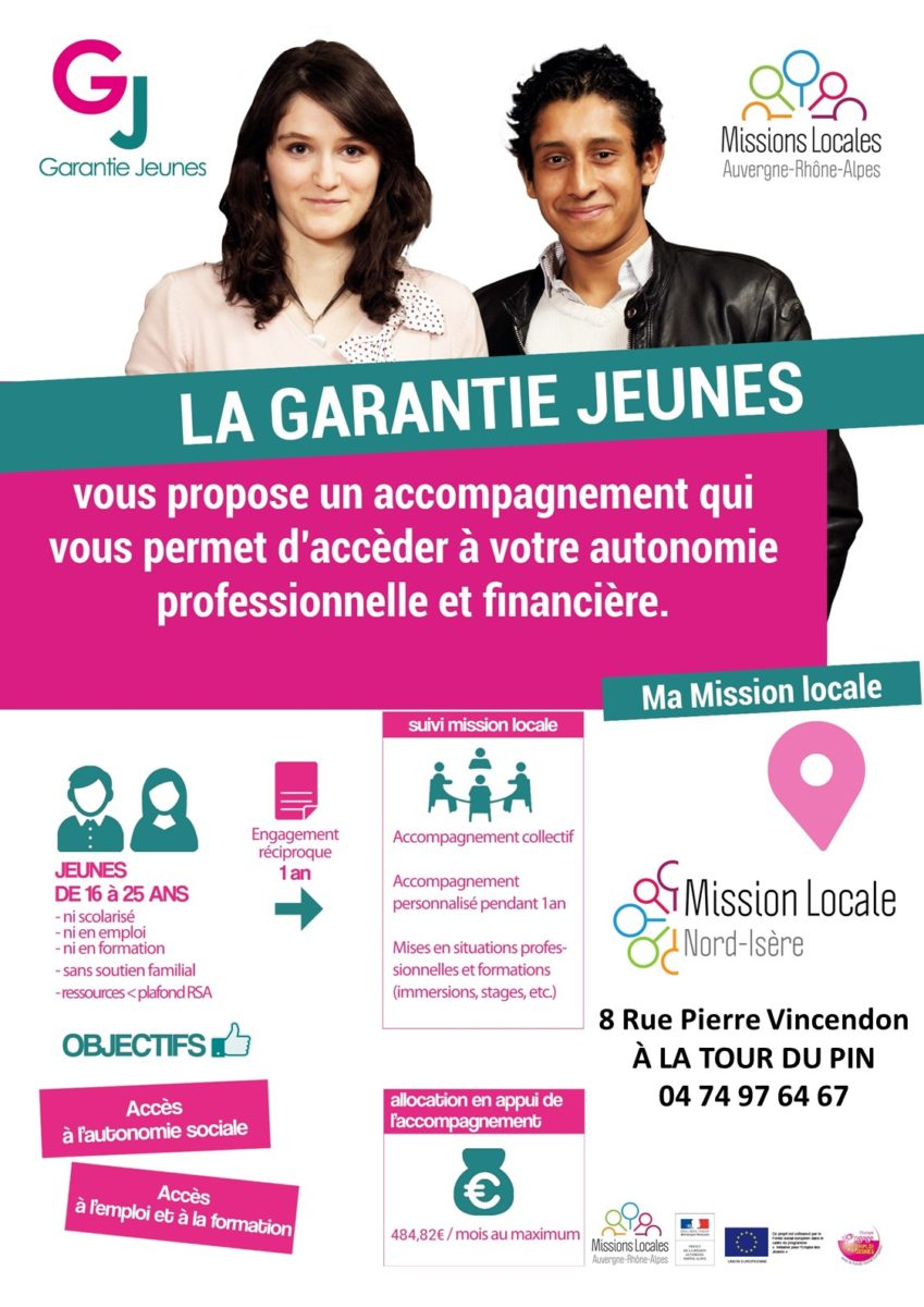 mission locale, garantie jeunes, accompagnement, autonomie, professionnelle, financière, 16 à 25 ans, emploi, formation