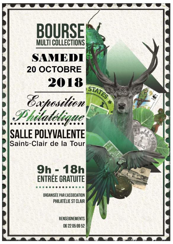 association Philatélie St Clair, bourse multi collections, exposition