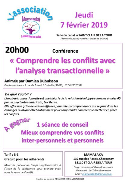 mamasaka, conférence, salle du canal, conflits, analyse