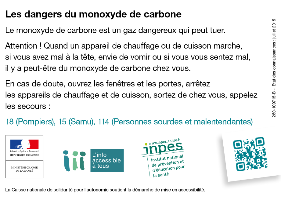 campagne, informations, dangers, monoxyde de carbone, prévention