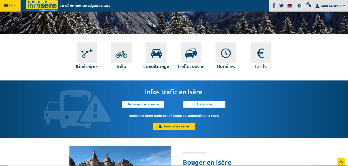 site du Conseil départemental, usagers des transports, des routes du département,, déplacements, horaires, itinéraires, itinisère