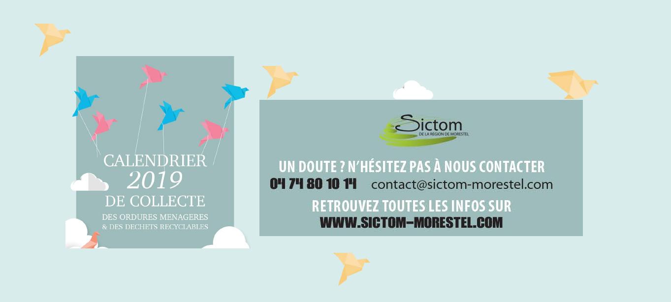Calendrier Sictom.Sictom Calendrier De Collecte 2019 Mairie De Saint Clair