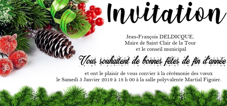 invitation, vœux, Maire, municipalité, fêtes, fin d'années, cérémonie des vœux