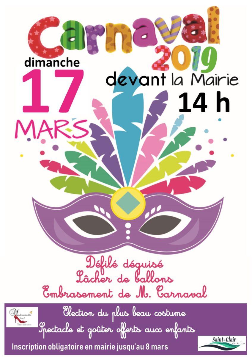 carnaval, le 17 mars, défilé déguisé, lâcher de ballons, embrasement de M. carnaval, costume, spetacle, goûter, enfants
