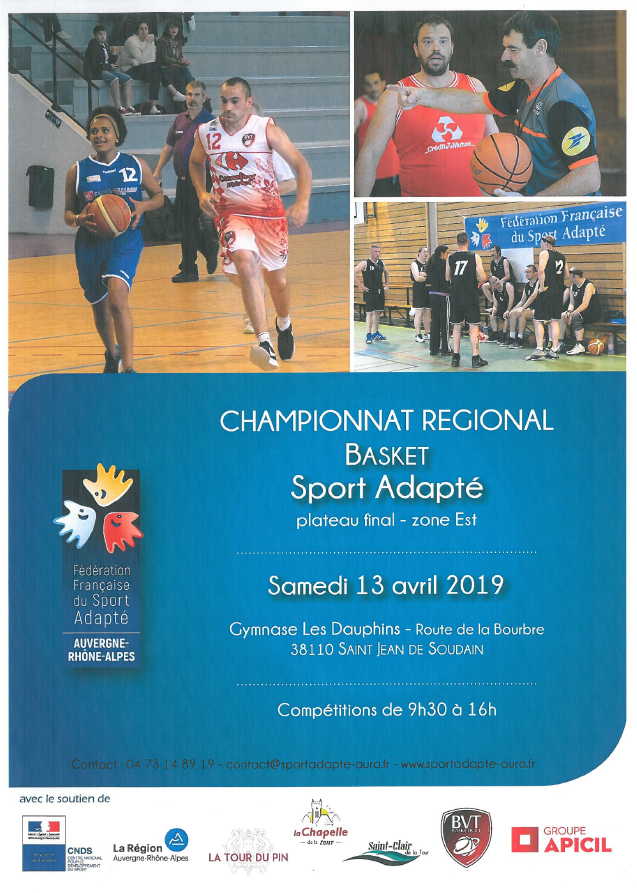 basket, sport adapté, championnat régional, plateau final, gymnase les dauphins, compétitions