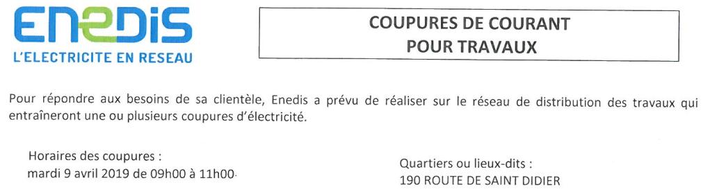 ENEDIS, électricit, réseau, coupure, courant, travaux,