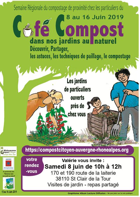 café, compost, visite, jardins, naturel, astuces, paillage, compostage
