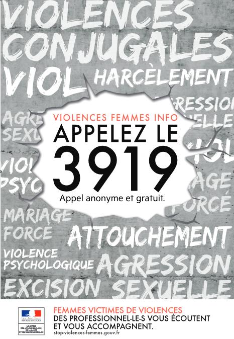 numéro, violence, violences conjugales, harcèlement, attouchement, 3919, victime