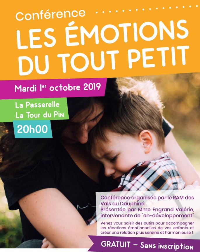 VDD, conférence, émotions, petit, enfant, Passerelle, RAM, accompagner, comportement