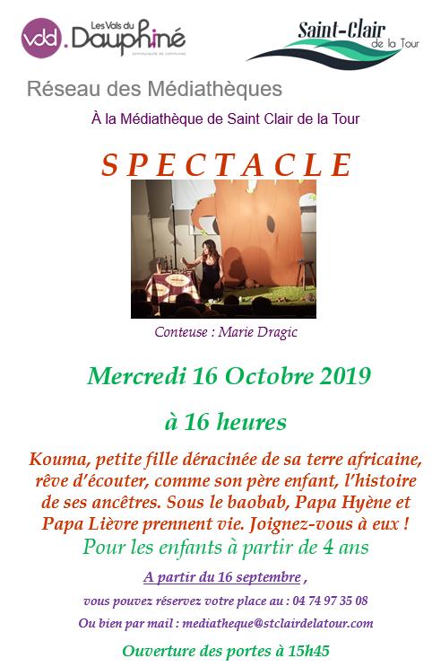 médiathèque, spectacle, enfant, réservation, Marie Dragic, Kouma