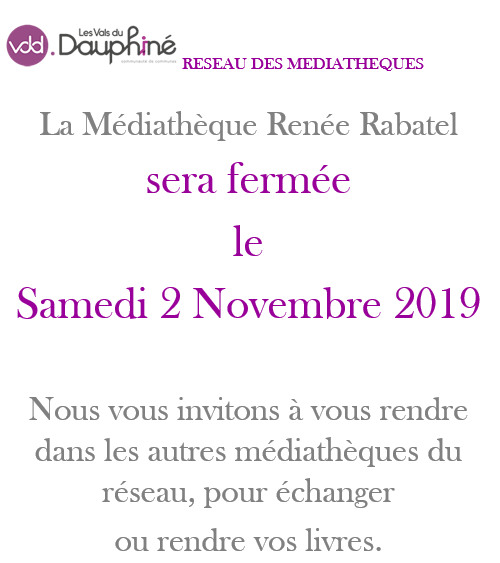 médiathèque, Renée Rabatel, fermeture, novembre