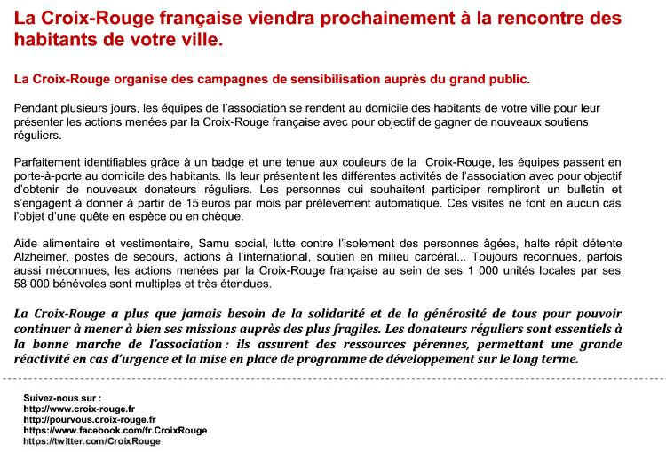 croix-rouge française, rencontre, campagne, sensibilisation, association, soutien,, porte-à-porte