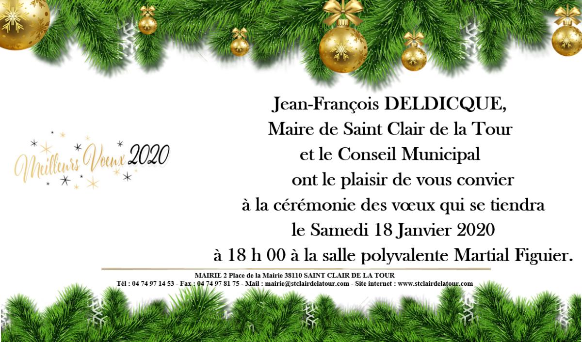 Invitation, voeux, municipalité, 2020, cérémonie