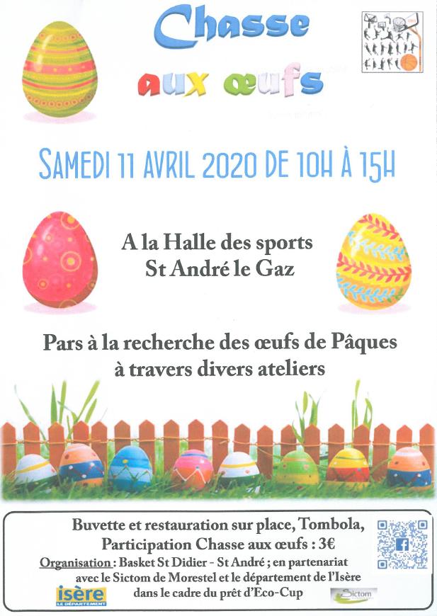 basket St Didier / St André, chasse aux oeufs, gymnase, halle des sports, Pâques