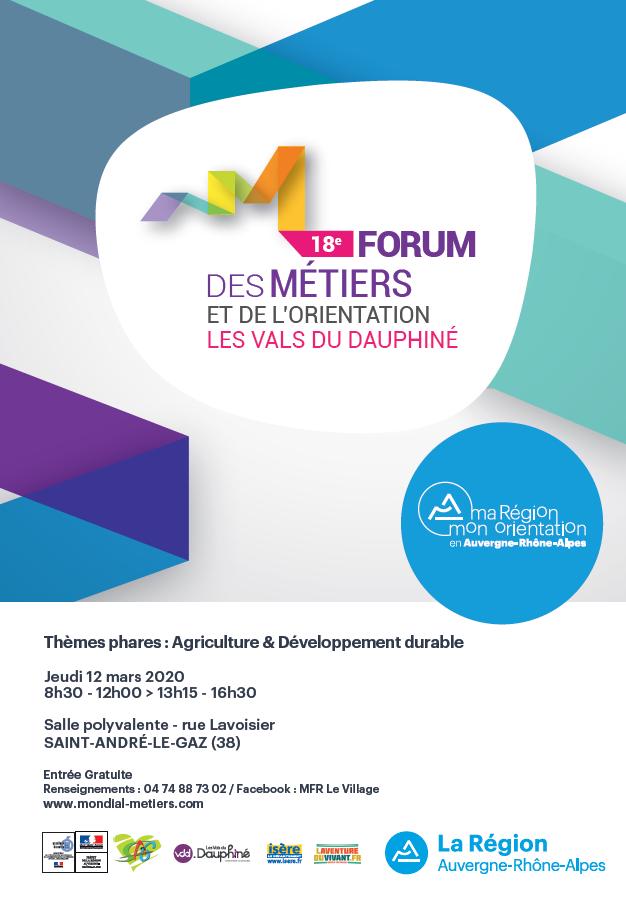 forum, métiers, orientation, VALS DU DAUPHINÉ, MFR, agriculture, développement durable, MFR Le Village