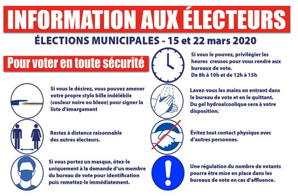 information, électeurs, élections, 15 mars, voter, sécurité, consignes