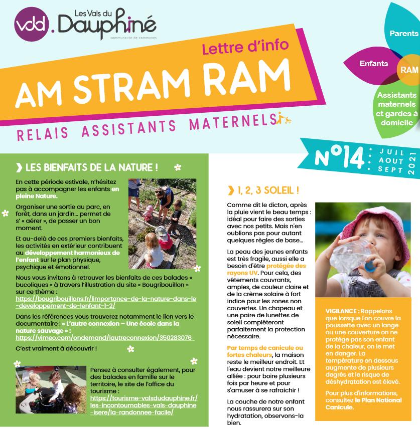 AM STRAM RAM, lettre d'info, relais assistants maternels