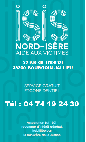 Association ISIS Nord-Isère, aide, victimes