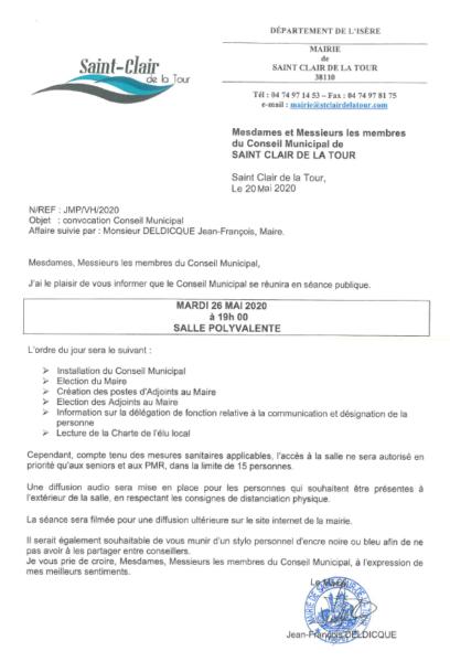 convocation, conseil municipal