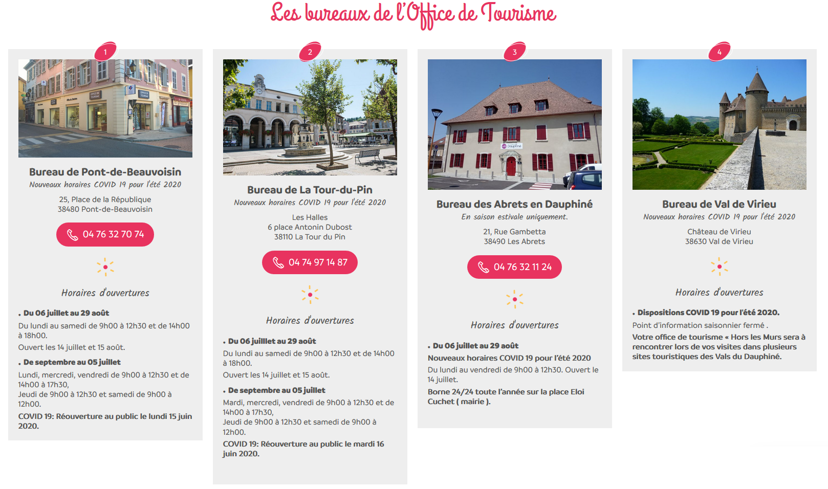 office de tourisme, bureaux, adresse, horaires d'ouverture