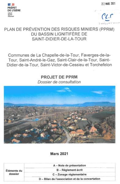 PPRM, plan de prévention, risques miniers, bassin, Saint Didier de la Tour