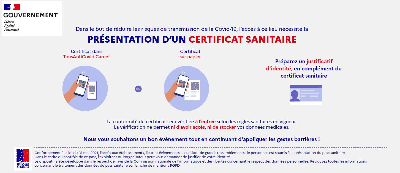 présentation, pass sanitaire