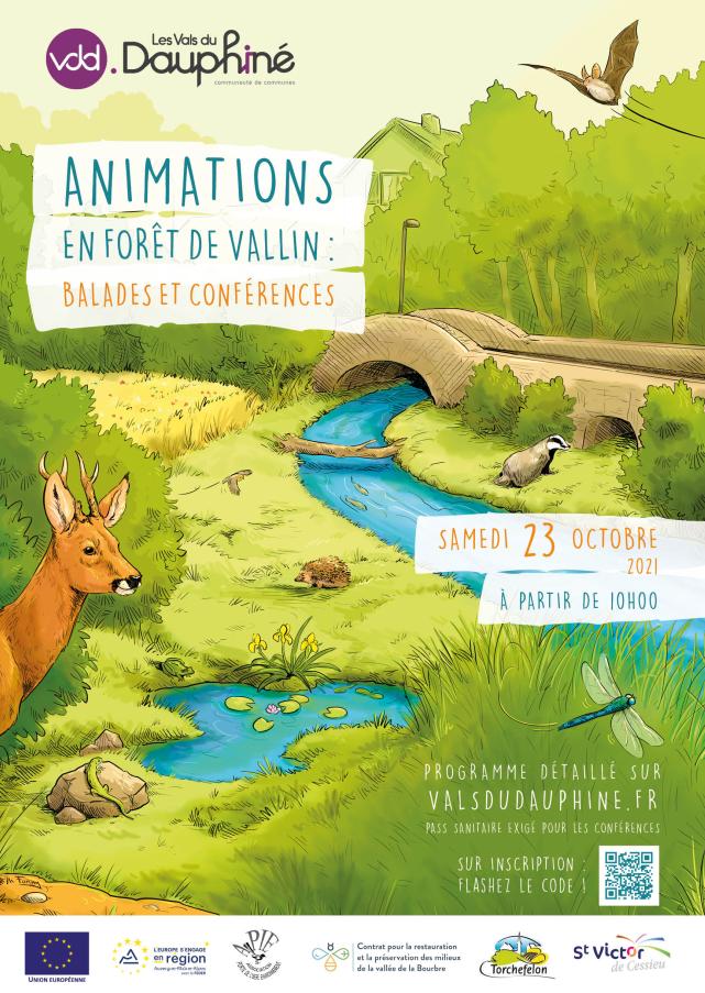 VDD, animation, forêt, Vallin, balade, conférence