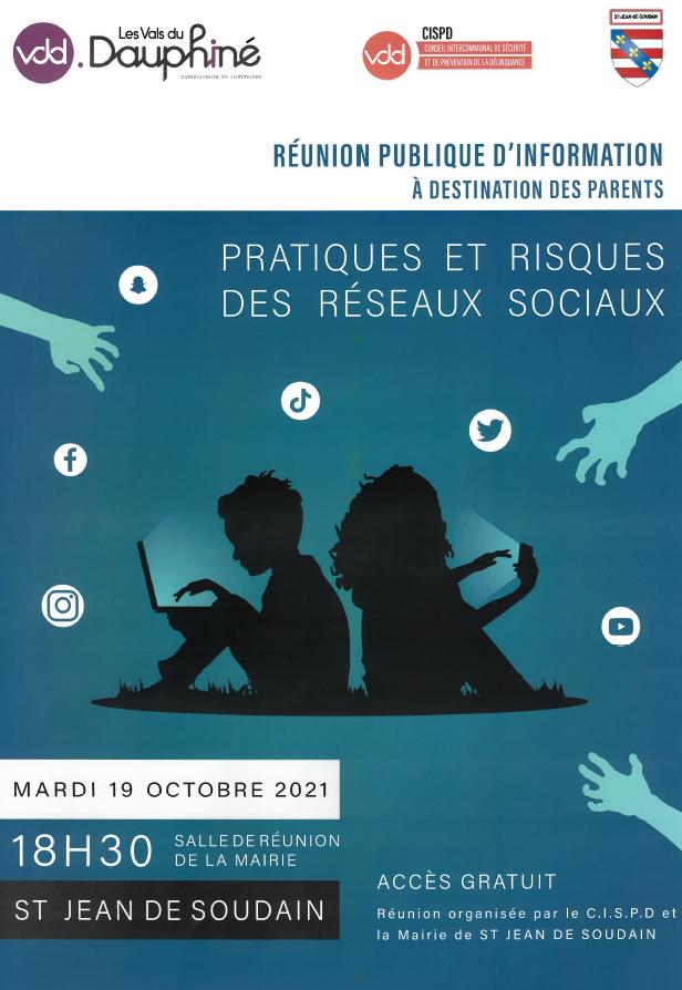 CISPD, réunion publique, parents, enfants, risques, réseaux, sociaux, réseau social